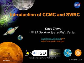 Introduction of CCMC and SWRC