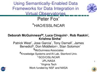 Using Semantically-Enabled Data Frameworks for Data Integration in  Virtual Observatories