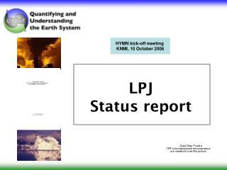 LPJ Status report