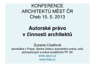 Díla architektury jako autorská díla