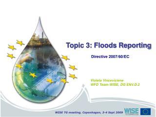 Topic 3: Floods Reporting Directive 2007/60/EC