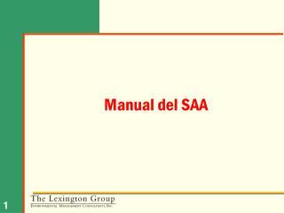 Manual del SAA