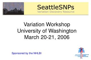 Variation Workshop University of Washington March 20-21, 2006