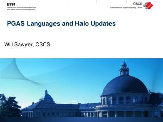 PGAS Languages and Halo Updates