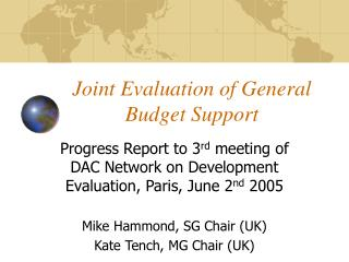 Joint Evaluation of General Budget Support