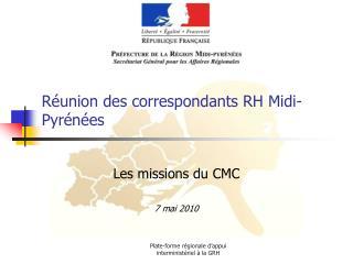 Réunion des correspondants RH Midi-Pyrénées