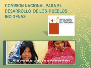 COMISION NACIONAL PARA EL DESARROLLO  DE LOS  PUEBLOS INDIGENAS
