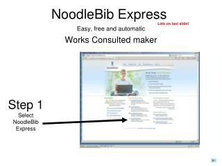 NoodleBib Express