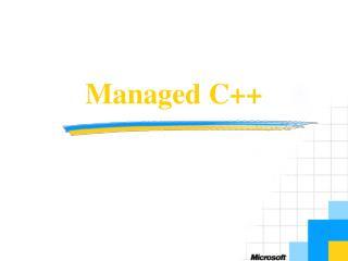 Managed C++