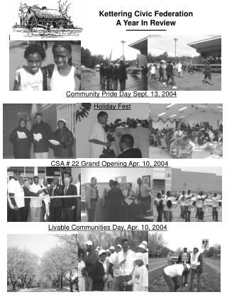 CSA # 22 Grand Opening Apr. 10, 2004