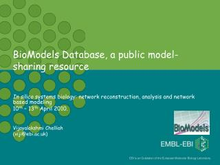 BioModels Database, a public model-sharing resource