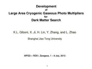 K.L. Giboni, X. Ji, H. Lin, Y. Zhang, and L. Zhao Shanghai Jiao Tong University