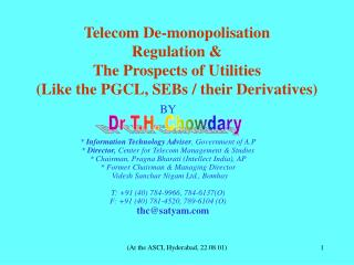 BY *  Information Technology Adviser , Government of A.P
