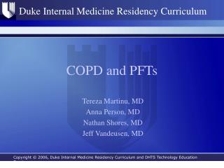 COPD and PFTs