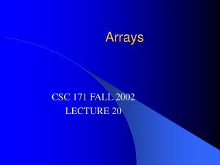 Arrays