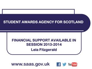 FINANCIAL SUPPORT AVAILABLE IN SESSION 2013-2014 Leia Fitzgerald