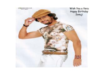 Wish You a Very  Happy Birthday Sonuji