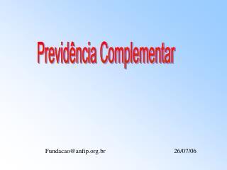 Previdência Complementar
