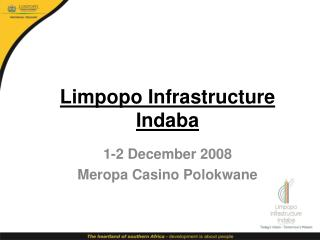 Limpopo Infrastructure Indaba