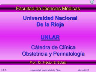 Cátedra de Clínica  Obstetricia y Perinatología