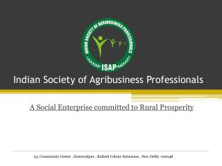 Indian Society of Agribusiness Professionals
