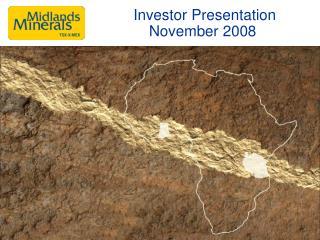 Investor Presentation  November 2008