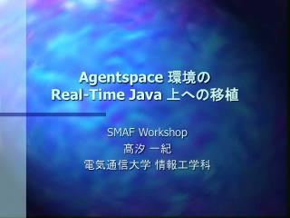 Agentspace  環境の Real-Time Java  上への移植