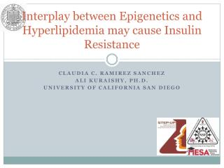 Interplay between  Epigenetics  and  Hyperlipidemia  may cause Insulin Resistance