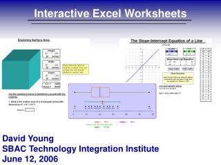 Interactive Excel Worksheets