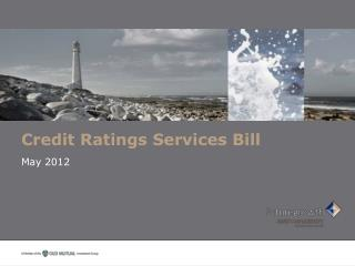 Credit Ratings Services Bill