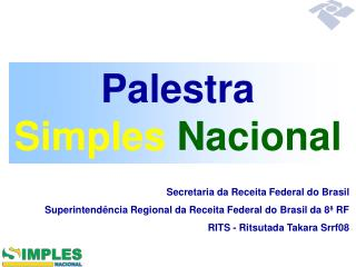 Palestra Simples  Nacional