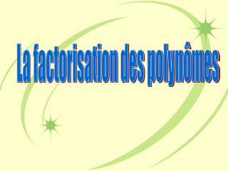 La factorisation des polynômes