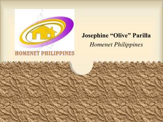 "Josephine ""Olive"" Parilla Homenet Philippines"