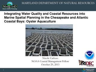 Nicole Carlozo NOAA Coastal Management Fellow October 29, 2013