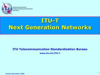 ITU-T  Next Generation Networks