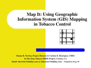 Map It: Using Geographic Information System GIS Mapping  in Tobacco Control