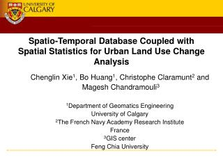 Spatio-Temporal Database Coupled with Spatial Statistics for Urban Land Use Change Analysis
