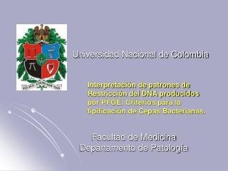 U niversidad Nacional de Colombia