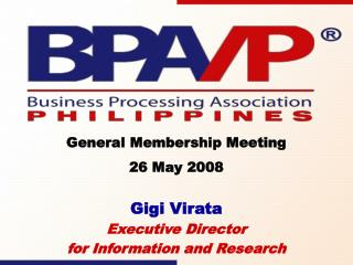 Gigi Virata Executive Director  for Information and Research
