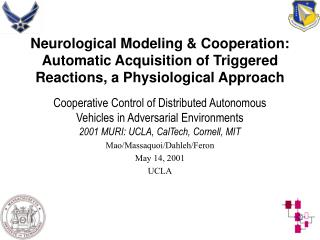 Neurological Modeling  Cooperation: Automatic Acquisition of Triggered Reactions, a Physiological Approach