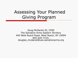 Assessing Your Planned Giving Program