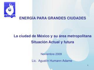 ENERGÍA PARA GRANDES CIUDADES La ciudad de México y su área metropolitana