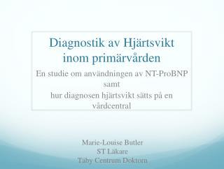 Diagnostik av Hjärtsvikt inom primärvården