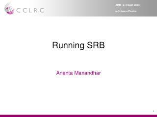 Running SRB