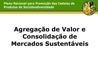 Agrega��o de Valor e Consolida��o de Mercados Sustent�veis