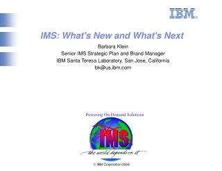 Ó  IBM Corporation 2004
