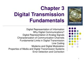Chapter 3  Digital Transmission Fundamentals