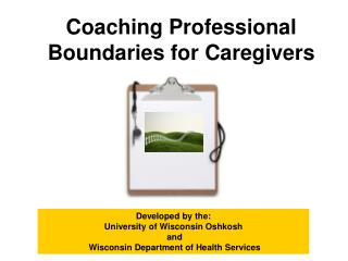 Coaching Professional Boundaries for Caregivers