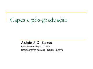 Capes e pós-graduação