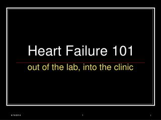 Heart Failure 101
